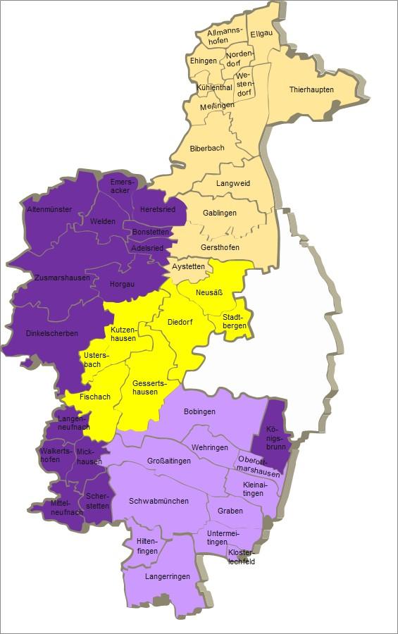 Landkreis Augsburg Karte.Zustandigkeiten Im Naturschutz Landkreis Augsburg