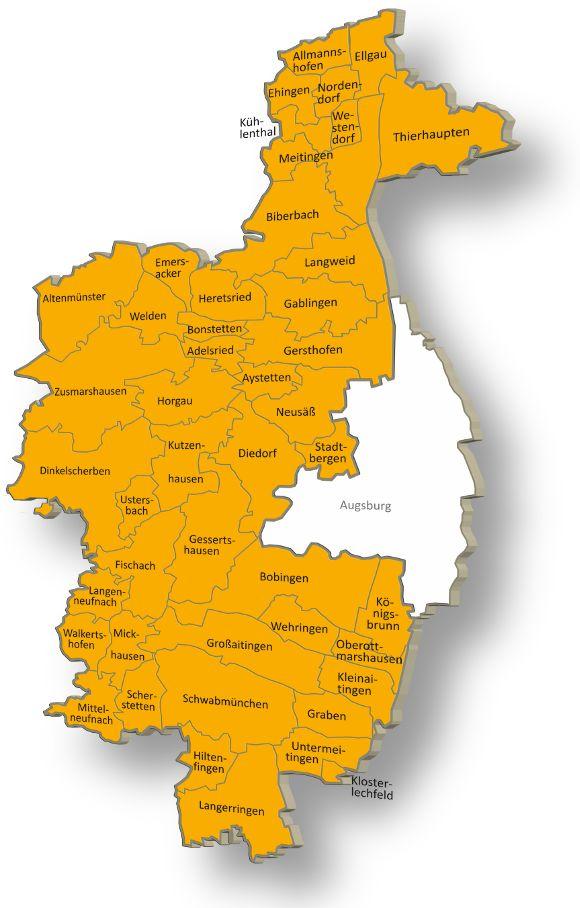 Landkreis Augsburg Karte.Zustandigkeiten Bauleitordnung Bauleitplanung Landkreis